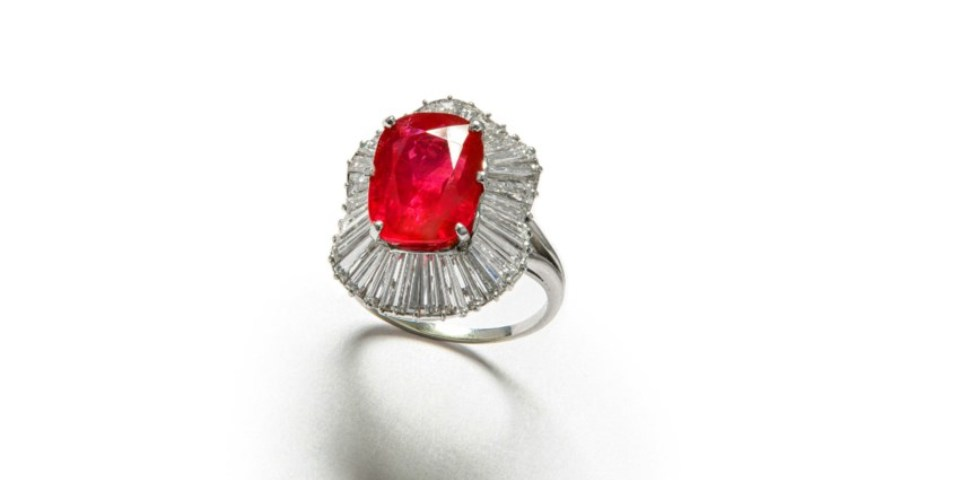 A 10.51 carat, natural Burmese ruby ring is to be auctioned at Chiswick Auctions