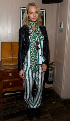 Cara Delevingne wearing Burberry September collection